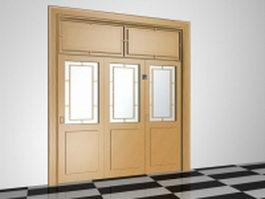 Interior folding doors 3d model