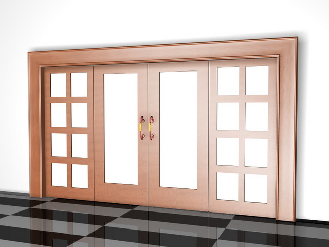 Genial Highly Detailed 3D Model Of Wooden Room Dividers With Doors. Available 3D  Object Format: .3DS (3D Studio) .MAX (3ds Max) Scanline Render