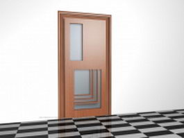 Interior glazed door 3d model