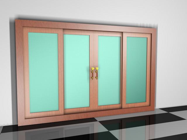 sliding door room dividers 3d model