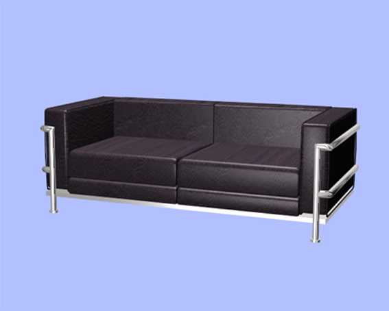 Leather Office Sofa 3d Model 3ds Max Files Free Download