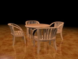 Outdoor dining sets 3d model