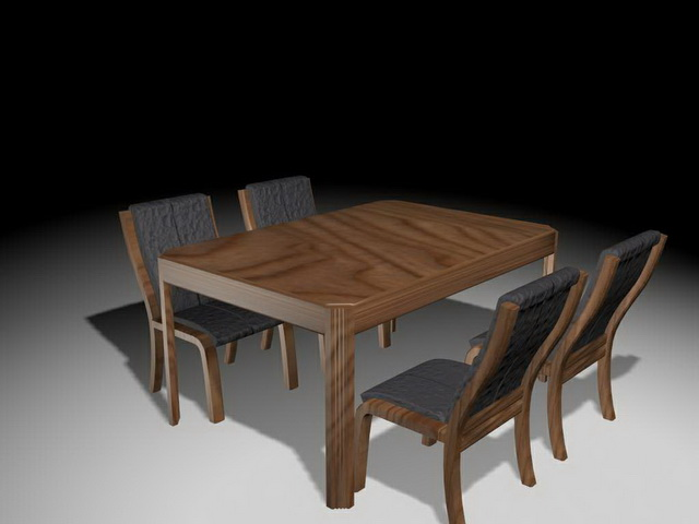 Rustic Dining Table Sets 3D Model