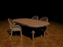 Rattan patio furniture sets 3d preview