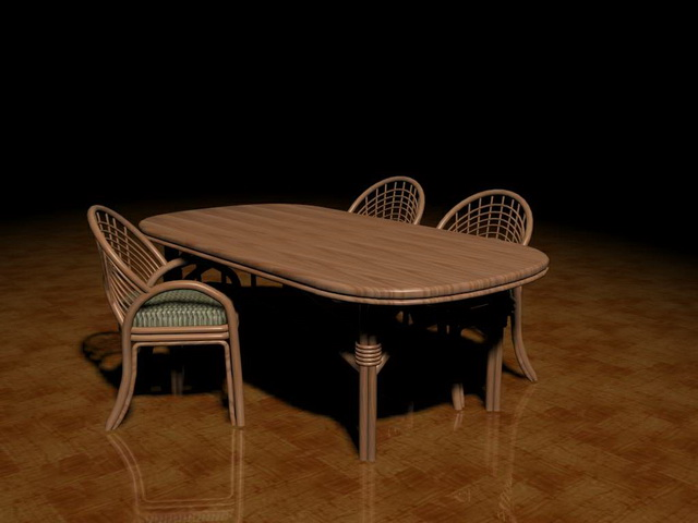 Rattan patio furniture sets 3d model 3ds max files free for Outdoor furniture 3d max