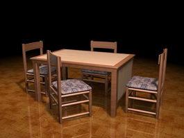 Retro dinette sets 3d model