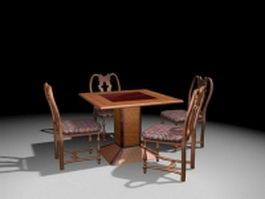 Antique dinette sets 3d model