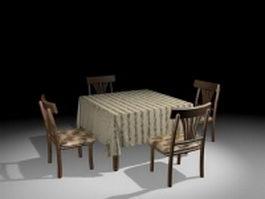 Small kitchen dinette sets 3d model
