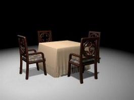 Elegant dinette sets 3d model