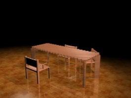 Bistro dining sets 3d model