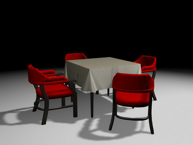 casual dinette sets 3d model 3ds max files free download