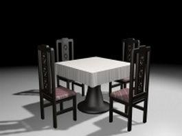 Restaurant dining sets 3d model