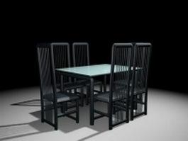 Modern dining room sets 3d model