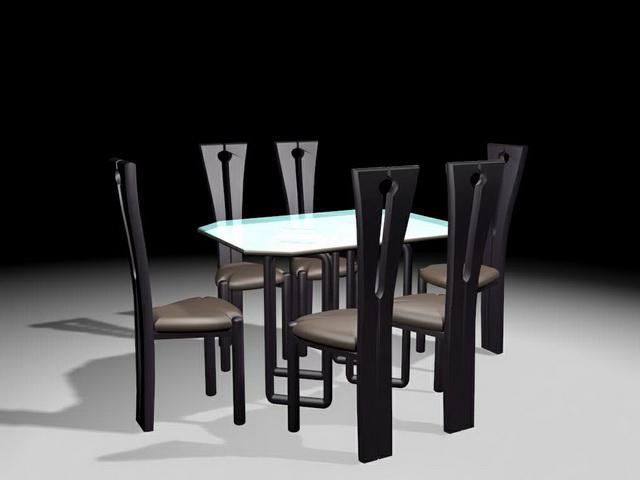 Modern dining table set 3d model 3ds max files free  : 1 1504051U516 from www.cadnav.com size 640 x 480 jpeg 51kB