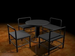 Outdoor bar furniture sets 3d model