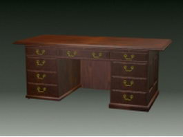 Vintage office desk 3d model