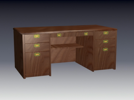 vintage office table 3d model antique office table