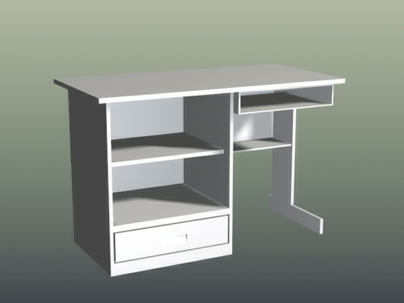 small computer desk 3d model 3d studio 3ds max files free download
