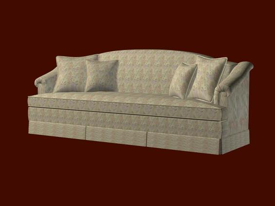 Fabric Sofa 3d Model 3d Studio 3ds Max Files Free Download
