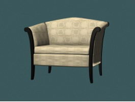 Fabric armchair 3d model