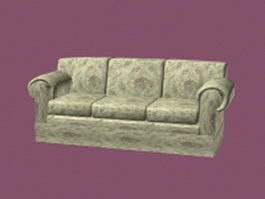 3 Seater fabric couch 3d model