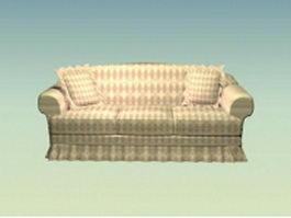Modern rustic sofa 3d model