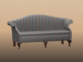 Vintage French settee 3d model