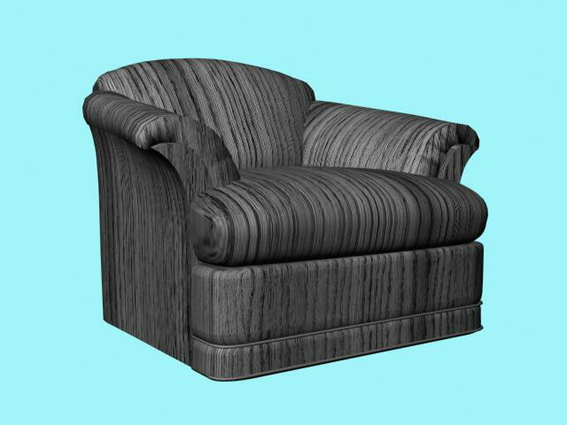 Phenomenal Dark Striped Sofa Chair 3D Model Cadnav Andrewgaddart Wooden Chair Designs For Living Room Andrewgaddartcom