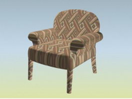 Upholstery fabric chair 3d model