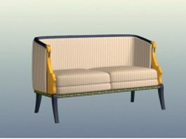 Cottage style settee 3d model