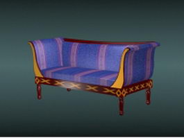 Antique French settee 3d model