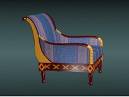 Antique sofa chair 3d model