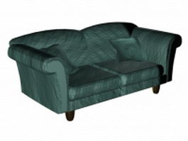 French style loveseat 3d model