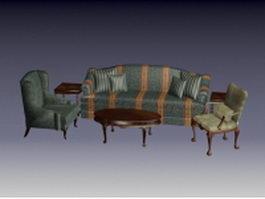 Traditional living room furniture sets 3d model