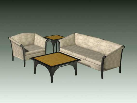 4 piece living room set 3d model files free download for 4 piece living room table set