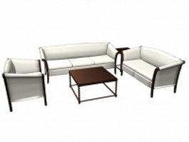Traditional living room sets furniture 3d model