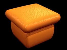 Orange ottoman 3d model