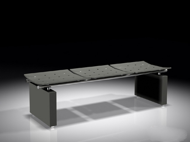 Black Bench Seat 3d Model 3ds Max Files Free Download