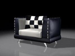 Black black cube chair 3d model