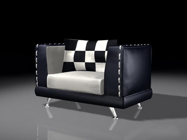 Black Black Cube Chair 3d Model 3ds Max Files Free