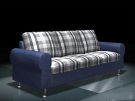 Modern plaid sofa 3d model
