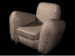 Fabric club chair 3d model