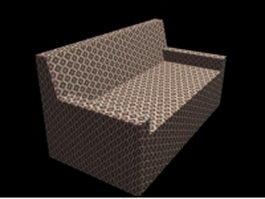 Fabric settee 3d model