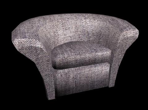 Half Circle Chair 3D Model