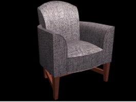 Fabric sofa chair 3d model