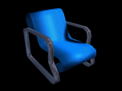 reclining accent chair 3d model 3d studio