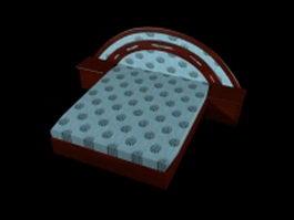 Rosewood platform bed 3d model