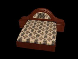 Redwood king bed with nightstands 3d model