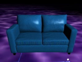 Blue reclining loveseat 3d model