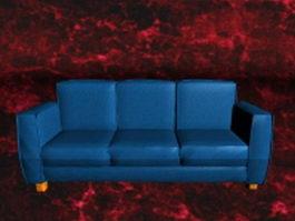 Royal blue sofa 3d model